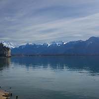 Taking in the view at Chillon castle on Lake Geneva.