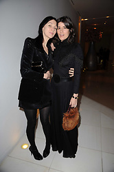 Left to right, SUSIE BICK and BELLA FREUD at a party to celebrate Lancome's 10th anniversary of sponsorship of the BAFTA's in association with Harper's Bazaar magazine held at St.Martin's Lane Hotel, London on 19th February 2010.