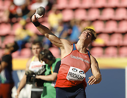 July 10, 2018 - Tampere, Suomi Finland - 180710 Friidrott, Junior-VM, Dag 1: Tadeas Prochazka CZE competes in Shot Put during the IAAF World U20 Championships day 1 at the Ratina stadion 10. July 2018 in Tampere, Finland. (Newspix24/Kalle Parkkinen) (Credit Image: © Kalle Parkkinen/Bildbyran via ZUMA Press)