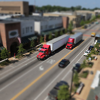 Traffic makes its way down West Main Street in Tupelo. This photo was shot from the rooftop of Tupelo Hardware.