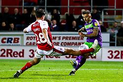 Jamie Paterson of Bristol City shoots at goal - Mandatory by-line: Robbie Stephenson/JMP - 03/10/2018 - FOOTBALL - Aesseal New York Stadium - Rotherham, England - Rotherham United v Bristol City - Sky Bet Championship