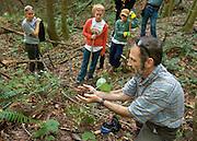 O.U. professor Glenn Matlack w/ students Melissa Kuhn (left) and  Kara Arvidson (center)