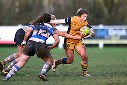 Amy Wilson Hardy of Bristol Ladies is challenged - Mandatory by-line: Dougie Allward/JMP - 11/12/2016 - RUGBY - Cleve RFC - Bristol, England - Bristol Ladies v Darlington Mowden Park Ladies - RFU Women's Premiership
