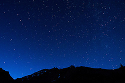 Night Sky Over Mt. Shasta from Panther Meadow, Shasta-Trinity National Forest, California, US