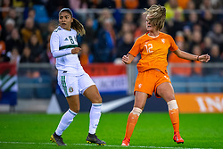 05-04-2019 NED: Netherlands - Mexico, Arnhem<br /> Friendly match in GelreDome Arnhem. Netherlands win 2-0 / Jill Roord #12 of The Netherlands shoots goal and Vivianne Miedema #9 of The Netherlands scores in rebound