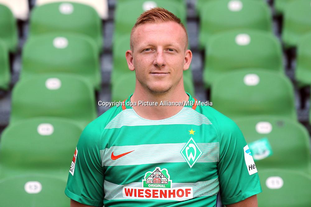 German Bundesliga - Season 2016/17 - Photocall Werder Bremen on 20 July 2016 in Bremen, Germany: Laszlo Kleinheisler. Photo: Focke Strangmann/dpa | usage worldwide
