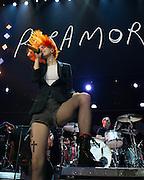 Haley Williams of Paramore at 106.1 KISS FM's Jingle Ball Bash 2013 in Everett, WA. Photo by John Lill