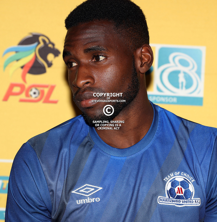 Fortune Makaringe of Maritzburg Utd  during the MTN8 semi-final 2nd-leg Press Conference with the Head Coach and Selected players United,Harry Gwala Stadium in  Pietermaritzburg. 7th September -2017 (Photo by Steve Haag)