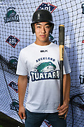 Yuuki Takahashi poses for a photo as the new Auckland Tuatara baseball team is announced to play in the Australian Baseball League at the Centre for Conservaion Medicine at Auckland Zoo. 27 August 2018. Copyright Image: Andrew Cornaga / www.photosport.nz