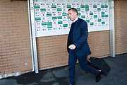 Leicester City manager Brendan Rodgers arriving at Turf Moor before the Premier League match between Burnley and Leicester City at Turf Moor, Burnley, England on 19 January 2020.