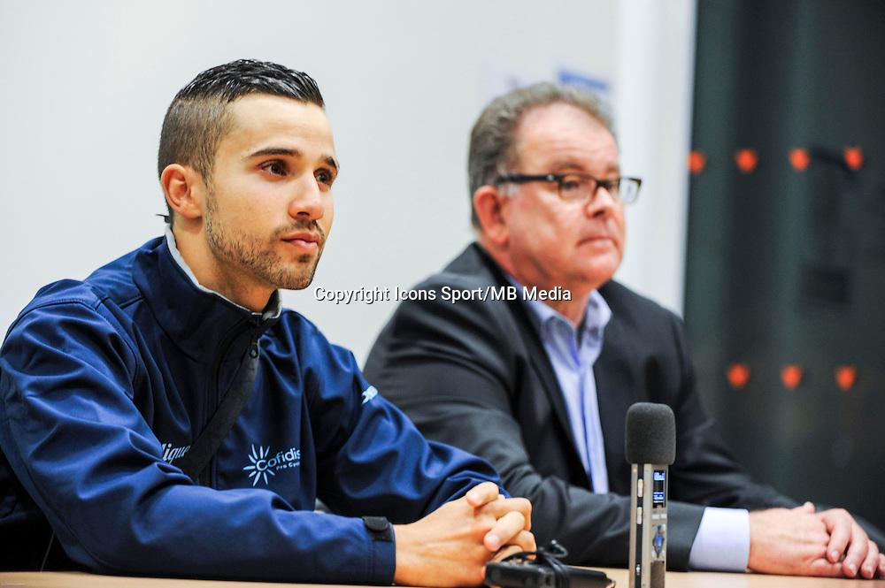 Nacer BOUHANNI / Yvon SANQUER - 23/01/2015 - presentation de l equipe Cofidis <br /> photos : Gautier Demouveaux / Icon Sport