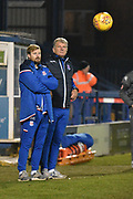 Stoke City U23's Head Coach, Glyn Hodges during the EFL Trophy match between Bury and U23 Stoke City at the JD Stadium, Bury, England on 8 November 2017. Photo by Mark Pollitt.