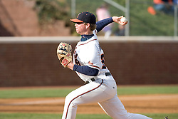 Virginia Cavaliers pitcher Andrew Carraway (38) in action against Duke.  The Virginia Cavaliers Baseball team fell to the Duke Blue Devils 13-9 in the second of a three game series at Davenport Field in Charlottesville, VA on April 7, 2007.
