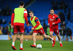 Joe Bryan of Bristol City warms up with team mates - Mandatory by-line: Matt McNulty/JMP - 09/01/2018 - FOOTBALL - Etihad Stadium - Manchester, England - Manchester City v Bristol City - Carabao Cup Semi-Final First Leg