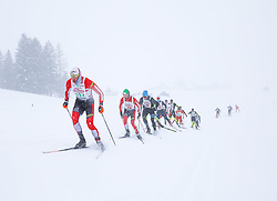 26.01.2019, Bad Mitterndorf, AUT, 40. Internationaler Steiralauf, 25 km Freie Technik, im Bild eine Gruppe von Läufern, angeführt vom späteren Sieger Peter Brunner (AUT) // during the 40th international Steiralauf 25 km Freestyle in Bad Mitterndorf, Austria on 2019/01/26. EXPA Pictures © 2019, PhotoCredit: EXPA/ Martin Huber