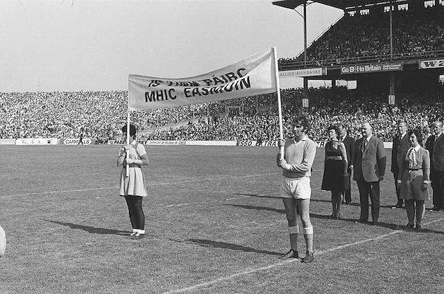 Officials stand for national anthem before at the All Ireland Senior Hurling Final, Cork v Kilkenny in Croke Park on the 3rd September 1972. Kilkenny 3-24, Cork 5-11.