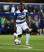 David (Junior) Hoilett (QPR midfielder) dribbling for another QPR attack during the Capital One Cup match between Queens Park Rangers and Carlisle United at the Loftus Road Stadium, London, England on 25 August 2015. Photo by Matthew Redman.