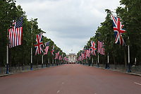 US flags line The Mall for President Trump visit to UK, The Mall, London, UK, 03 June 2019, Photo by Richard Goldschmidt