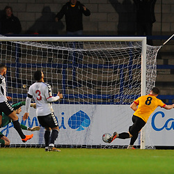 TELFORD COPYRIGHT MIKE SHERIDAN 1/12/2018 - GOAL. Lewis Knight scores to make it 0-1 during the Vanarama Conference North fixture between AFC Telford United and Bradford Park Avenue AFC.