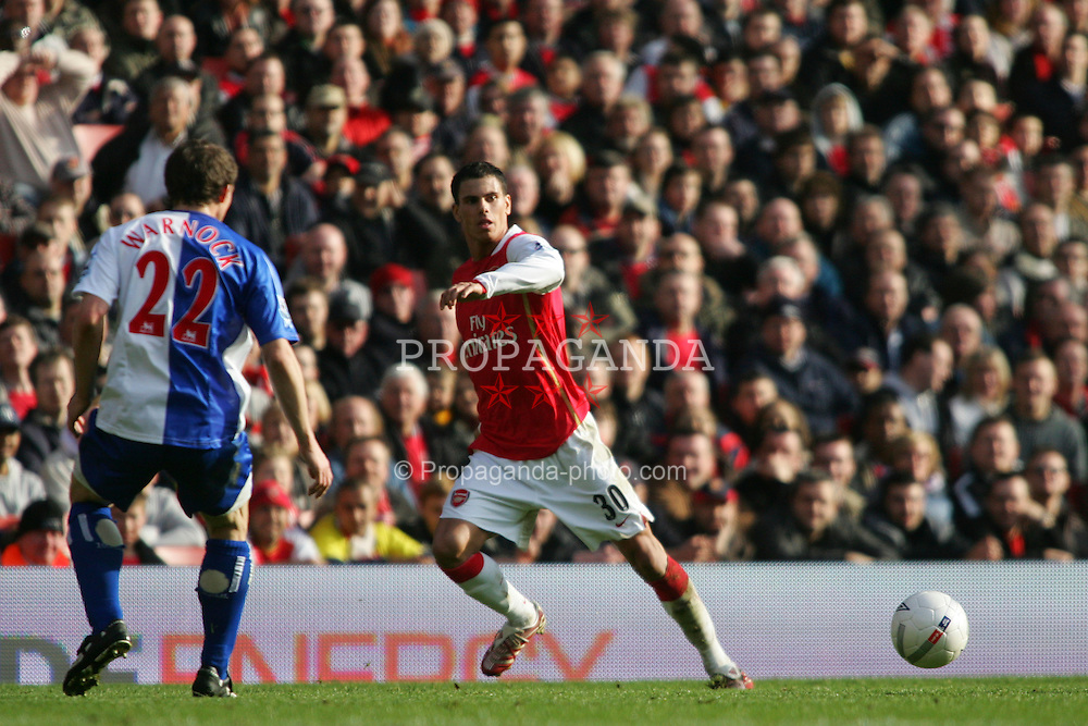 London, England - Saturday, February 17, 2007: Arsenal's Jeremie Aliadiere in action against Blackburn Rovers during the FA Cup 5th round match at the Emirates Stadium. (Pic by Chris Ratcliffe/Propaganda)