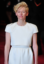 © Licensed to London News Pictures. 12/02/2012. London, England.Tilda Swinton arrives for the Orange British Academy Film Awards at The Royal Opera House on February 12, 2012 in London, England. Photo credit : ALAN ROXBOROUGH/LNP