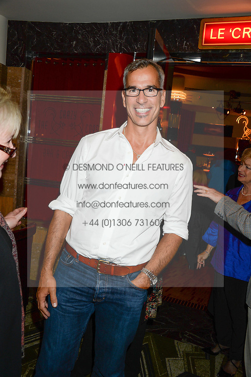 American theatre director and choreographer JERRY MITCHELL at a first night of Celia Imrie's show Laughing Matters held at The Crazy Coqs, Brasserie Zedel, 20 Sherwood Street, Piccadilly, London on 17th September 2013.