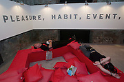 VENICE, ITALY..50th Biennale of Venice.Arsenale..Chill-out zone sponsored by Illy Caffee..(Photo by Heimo Aga)