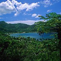 French Polynesia, Tahiti, Taha'a. Scenery of Taha'a.