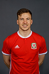 NANNING, CHINA - Saturday, March 24, 2018: Wales' Lee Evans during a squad photo shoot at the Wanda Realm Hotel on day five of the 2018 Gree China Cup International Football Championship. (Pic by David Rawcliffe/Propaganda)