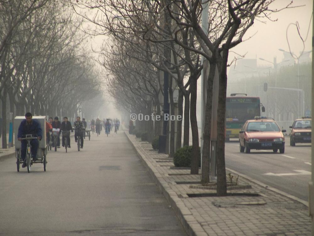 main traffic road Beijing China
