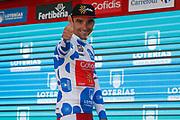Podium, Luis Angel Mate (ESP - Cofidis) Polka ots jersey, during the UCI World Tour, Tour of Spain (Vuelta) 2018, Stage 4, Velez Malaga - Alfacar Sierra de la Alfaguara 161,4 km in Spain, on August 28th, 2018 - Photo Luis Angel Gomez / BettiniPhoto / ProSportsImages / DPPI