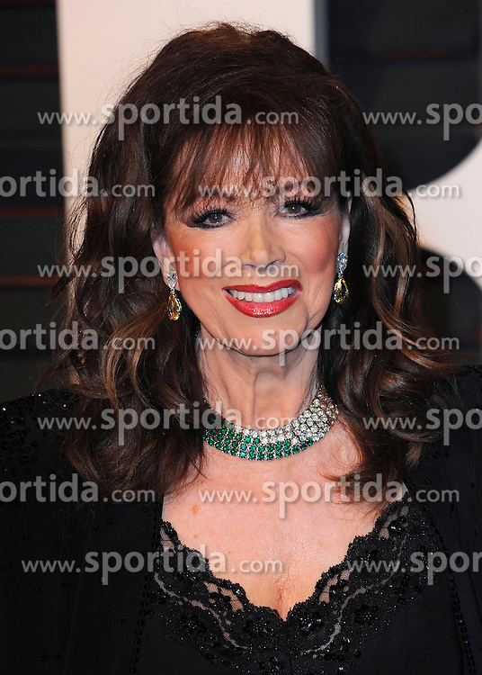 22.02.2015, Wallis Anneberg Center for the Performing Arts, Beverly Hills, USA, Vanity Fair Oscar Party 2015, Roter Teppich, im Bild Jackie Collins // during the red Carpet of 2015 Vanity Fair Oscar Party at the Wallis Anneberg Center for the Performing Arts in Beverly Hills, United States on 2015/02/22. EXPA Pictures &copy; 2015, PhotoCredit: EXPA/ Newspix/ PGSK<br /> <br /> *****ATTENTION - for AUT, SLO, CRO, SRB, BIH, MAZ, TUR, SUI, SWE only*****