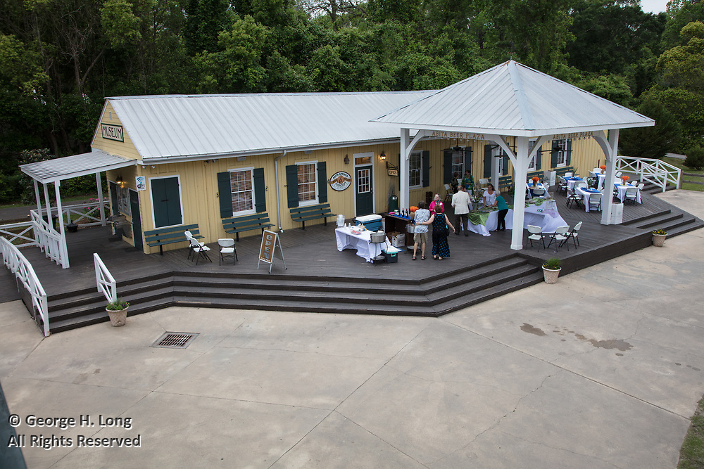 Reception for the Abita Springs Trailhead Museum's En Plein Air exhibit in Abita Springs Park on April 13, 2018