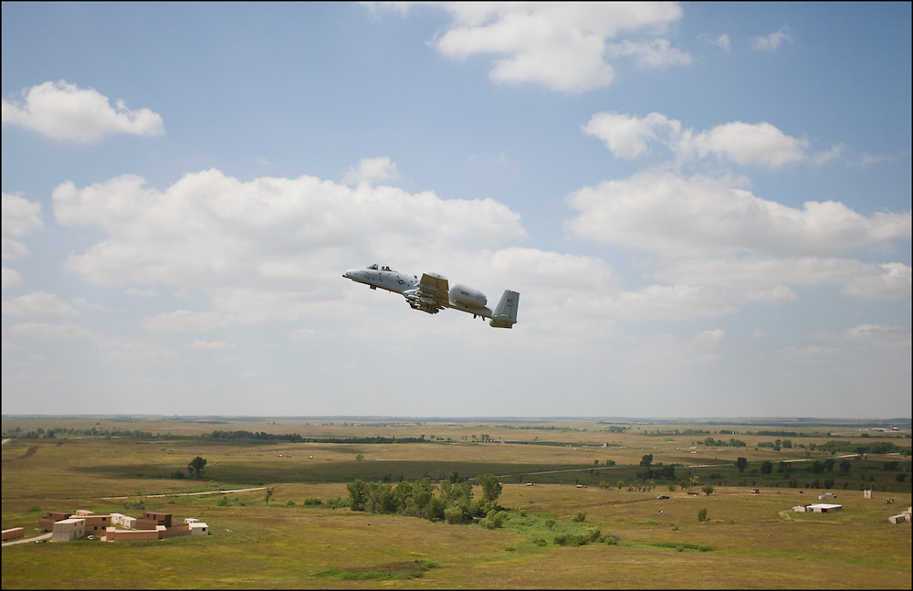 A-10 Warthog flying over the Smokey Hill Range during training.