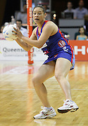 in action during round 4 of the ANZ Netball Championship - Queensland Firebirds v Northern Mystics. Played at Brisbane Convention Centre. Firebirds (46) defeated the Mystics (40).  Photo: Warren Keir (SMP/Photosport).<br /> <br /> Use information: This image is intended for Editorial use only (e.g. news or commentary, print or electronic). Any commercial or promotional use requires additional clearance.