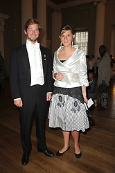COUNT DIMITRI TOLSTOY-MILOSLAVSKY and EMILY GARNETT at the 13th annual Russian Summer Ball held at the Banqueting House, Whitehall, London on 14th June 2008.<br />