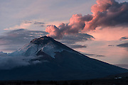 Cotopaxi Volcano eruption<br /> Andes, <br /> ECUADOR, South America<br /> 5,897 meters above sea level<br /> 19,347 feet<br /> Cotopaxi is the second highest mountain in Ecuador and one of the highest active volcanoes in the world.<br /> Last activity 2015<br /> In process of eruption