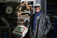 Gemenos, Bocche del Rodano, (Marsiglia), 01/02/2014: Il primo Incontro Europeo &ldquo;L'economia dei lavoratori&rdquo; nella fabbrica della Fralib, azienda occupata dai lavoratori in difesa del<br /> loro posto di lavoro. First European meeting in the occupied Fralib factory. Pictured Amar Hassani.