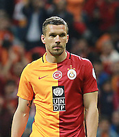 Ziraat Turkish cup semi final second leg match between Galatasaray and Caykur Rizespor at Turk Telekom Arena in Istanbul , Turkey , on May 04 , 2016.<br /> Final Score : Galatasaray 0 - Caykur Rizespor 0<br /> Pictured: Lukas Podolski of Galatasaray.