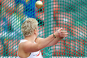 Anita Wlodarczyk of Poland competes in women's hammer throw qualification during the Second Day of the European Athletics Championships Zurich 2014 at Letzigrund Stadium in Zurich, Switzerland.<br /> <br /> Switzerland, Zurich, August 13, 2014<br /> <br /> Picture also available in RAW (NEF) or TIFF format on special request.<br /> <br /> For editorial use only. Any commercial or promotional use requires permission.<br /> <br /> Photo by &copy; Adam Nurkiewicz / Mediasport