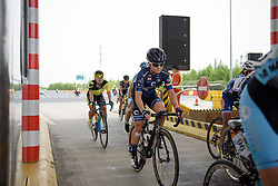 Emilie Moberg speeds through the toll booth at Tour of Chongming Island - Stage 2. A 135.4km road race from Changxing Island to Chongming Island, China on 6th May 2017.