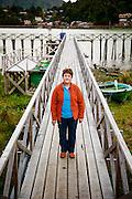 Brunilda Landeros, Dueña de hostería Brisas del Sur. Caleta Tortel, XI región de Aysén, 17-04-16 (©Claudio Frías/Triple.cl)