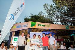 Winners of Diners Club tournament Jaro Turk and Gregor Breskvar  during Day 6 at ATP Challenger Zavarovalnica Sava Slovenia Open 2018, on August 8, 2018 in Sports centre, Portoroz/Portorose, Slovenia. Photo by Vid Ponikvar / Sportida