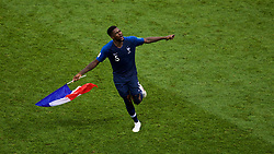 MOSCOW, RUSSIA - Sunday, July 15, 2018: France's Samuel Umtiti celebrates after the FIFA World Cup Russia 2018 Final match between France and Croatia at the Luzhniki Stadium. France won 4-2. (Pic by David Rawcliffe/Propaganda)