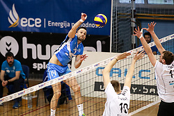 during 2nd Leg volleyball match between OK Calcit Volley and Salonit Anhovo in Semifinal of 1. DOL Slovenian National Championship 2017/18, on April 14, 2018 in Kamnik, Slovenia. Photo by Matic Klansek Velej / Sportida.