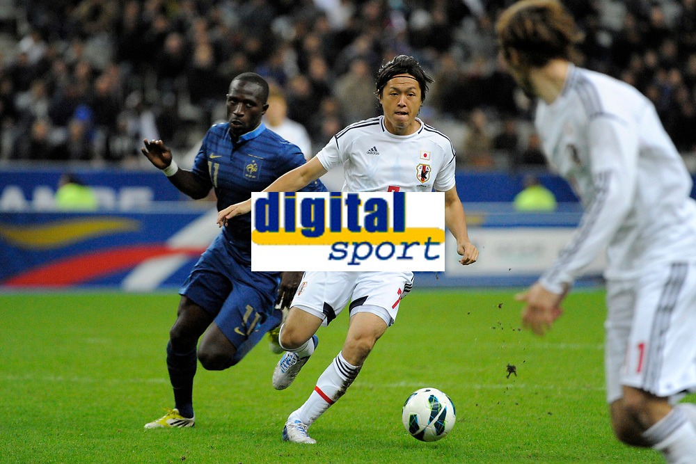 FOOTBALL - FRIENDLY GAME 2012 - FRANCE v JAPAN - STADE DE FRANCE ( SAINT DENIS ) FRANCE - 12/10/2012 - PHOTO JEAN MARIE HERVIO / REGAMEDIA / DPPI - YASUHITO ENDO (JAP) / MOUSSA SISSOKO (FRA)