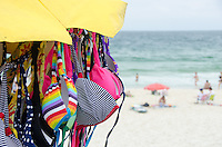 Bikinis for sale on Ipanema beach. Rio de Janeiro, Brazil