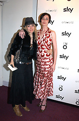 Left to right, BAY GARNETT and model ERIN O'CONNOR at the English National Opera's 'On The Town' presented by SKY and Artsworld followed by a Tribute to Leonard Bernstein hosted by Jerry Hall at The London Coliseum, St.Martin's Lane, London WC2 on 11th May 2005.