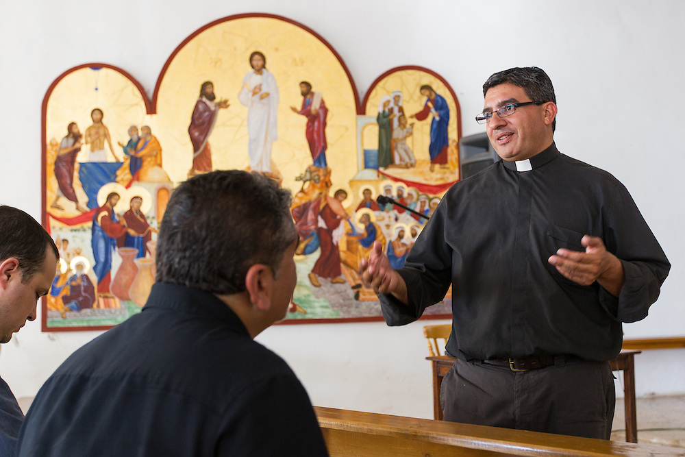 Father Simon, a priest at the Anjara Orphanage in Jordan, explains the mission's foundation and work.