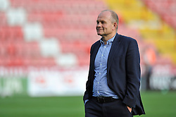 Bristol Rugby Director of Rugby Andy Robinson is all smiles after the match - Photo mandatory by-line: Patrick Khachfe/JMP - Mobile: 07966 386802 21/09/2014 - SPORT - RUGBY UNION - Bristol - Ashton Gate - Bristol Rugby v Cornish Pirates - GK IPA Championship.